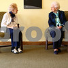 Kyle Bursaw – kbursaw@shawmedia.com<br /> <br /> Octavia Deatherage (right), who recently turned 101, talks with her younger sister Opal Brown, 97, while the two wait for a birthday celebration to begin at Heritage Woods in DeKalb, Ill. on Thursday, Nov. 8, 2012.