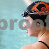 Kyle Bursaw – kbursaw@shawmedia.com<br /> <br /> Bailey Flemming listens as coach Leah Eames gives instructions at practice for the DeKalb/Sycamore co-op swim team at Huntley Middle School on Friday, Nov. 2, 2012. Several swimmers will compete at sectionals on Saturday Nov. 10.