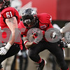 Rob Winner – rwinner@shawmedia.com<br /> <br /> Northern Illinois running back Keith Harris Jr. carries the ball for a 2-yard touchdown run during the second quarter in DeKalb, Ill., Saturday, Nov. 3, 2012. NIU defeated Massachusetts, 63-0.