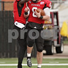 Rob Winner – rwinner@shawmedia.com<br /> <br /> Northern Illinois wide receiver Martel Moore (1) congratulates quarterback Jordan Lynch (6) after Lynch's 57-yard run for a touchdown during the second quarter in DeKalb, Ill., Saturday, Nov. 3, 2012. NIU defeated Massachusetts, 63-0.