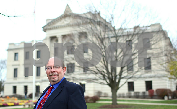 Kyle Bursaw – kbursaw@shawmedia.com<br /> <br /> Richard Schmack will take office as the new DeKalb County State's Attorney next month.<br /> <br /> Photographed at the DeKalb County Courthouse on Friday, Nov. 9, 2012.