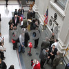 The public tours the new atrium section of the expanded Dekalb County Courthouse during it's grand opening in Sycamore on Sunday.<br /> <br /> Gary L. Gates / For the Daily Chronicle