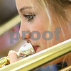 Kyle Bursaw – kbursaw@shawmedia.com<br /> <br /> Gilly Gozder plays trombone during band class at Somonauk High School on Tuesday, Nov. 13, 2012.