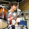 Kyle Bursaw – kbursaw@shawmedia.com<br /> <br /> David Burton plays the drum kit during band class at Somonauk High School on Tuesday, Nov. 13, 2012.