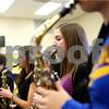 Kyle Bursaw – kbursaw@shawmedia.com<br /> <br /> Delaney Brummel (center) plays alto saxophone while rehearsing a Christmas tune during band class at Somonauk High School on Tuesday, Nov. 13, 2012.