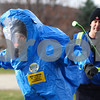 Kyle Bursaw – kbursaw@shawmedia.com<br /> <br /> DeKalb firefighter/paramedic Wade Schneck simulates decontaminating one of the fellow members of MABAS division six as they practice hazardous materials situations near the water tower on West Dresser Road in DeKalb, Ill. on Thursday, Nov. 15, 2012. MABAS stands for Mutual Aid Box Alarm System and the division is composed of members of multiple fire departments including DeKalb's.