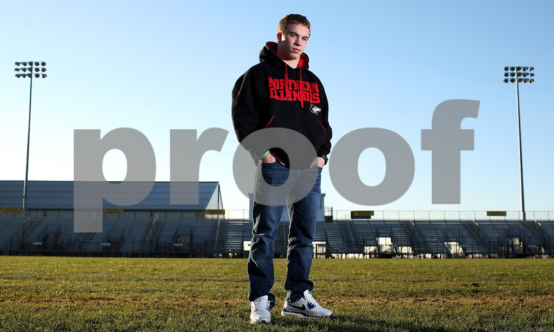 Kyle Bursaw – kbursaw@shawmedia.com<br /> <br /> Sycamore running back Austin Culton is the Daily Chronicle's 2012 Football player of the year.<br /> <br /> Photographed at Sycamore High School on Tuesday, Nov. 13, 2012.