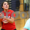 Kyle Bursaw – kbursaw@shawmedia.com<br /> <br /> Hiawatha's Desiree Andujar looks for a shot against the defense of Ashley Tamraz during practice on Monday, Oct. 29, 2012.