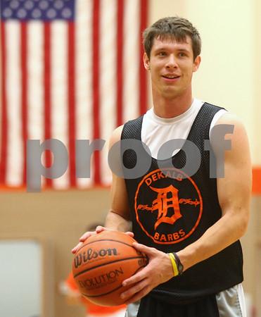 Kyle Bursaw – kbursaw@shawmedia.com<br /> <br /> DeKalb's Jake Carpenter works on free throws at practice on Wednesday, Nov. 7, 2012.