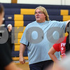 Kyle Bursaw – kbursaw@shawmedia.com<br /> <br /> Hiawatha coach Franz Schumacher instructs his players on a drill during practice on Monday, Oct. 29, 2012.