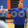Kyle Bursaw – kbursaw@shawmedia.com<br /> <br /> Genoa-Kingston coach Corey Jenkins instructs his players in a drill at practice on Monday, Nov. 5, 2012.