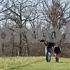 Rob Winner – rwinner@shawmedia.com<br /> <br /> Kingston resident Chad Poegel and his daughter Ally Poegel, 6, take a walk at the Prairie Oaks Forest Preserve in Kingston, Ill., Saturday, Nov. 17, 2012.