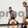 Rob Winner – rwinner@shawmedia.com<br /> <br /> Hinckley-Big Rock's Mitch Ruh (left) and Michael Bayler participate in a dribbling drill during practice in Hinckley Wednesday, Nov. 7, 2012.