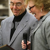 Kyle Bursaw – kbursaw@shawmedia.com<br /> <br /> Ruth Anne Tobias (right) recognizes Ray Bockman's decades of service as the county administrator at the county board meeting in Sycamore, Ill. on Wednesday, Nov. 21, 2012. Bockman will retire at the end of November.