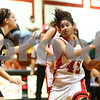 Kyle Bursaw – kbursaw@shawmedia.com<br /> <br /> Indian Creek's Samantha Mosley changes directions after recovering a ball that Putnam County's Venessa Voss (left) knocked away in the third quarter.<br /> Indian Creek fell to Putnam County 53-41 at Indian Creek High School on Monday, Nov. 26, 2012.