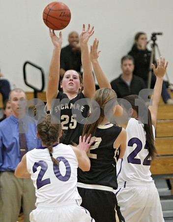 Rob Winner – rwinner@shawmedia.com<br /> <br /> Sycamore's Bailey Gilbert (25) tries to tie the game with a field goal in the final seconds in Rochelle, Ill., Friday, Nov. 30, 2012. Gilbert's shot missed and Rochelle defeated Sycamore, 52-49.