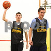 Kyle Bursaw – kbursaw@shawmedia.com<br /> <br /> Sycamore's Curt (left) and Kyle Buzzard make their way back down the court after practicing a defensive scheme on Monday, Nov. 5, 2012.