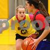 Kyle Bursaw – kbursaw@shawmedia.com<br /> <br /> Sycamore's Jessica Mollman defends teammate Julia Moll during a drill at <br /> practice on Thursday, Nov. 1, 2012.
