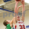 Kyle Bursaw – kbursaw@shawmedia.com<br /> <br /> Indian Creek forward Garrett Post puts up a shot in the first quarter. Indian Creek defeated Alden-Hebron 61-30 in the Warrior Thanksgiving Basketball Classic at Westminster Christian High School in Elgin, Ill. on Tuesday, Nov. 20, 2012.