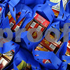 Kyle Bursaw – kbursaw@shawmedia.com<br /> <br /> Families of one to three people received these blue bags with food in addition to a turkey at the Salvation Army in DeKalb, Ill. on Tuesday, Nov. 20, 2012. More than 700 families received bags of food and turkeys.