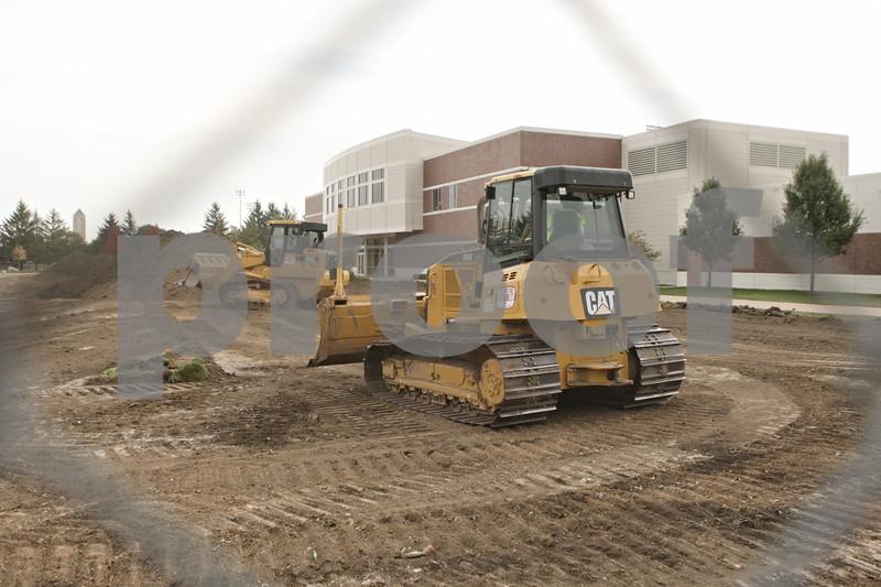 Rob Winner – rwinner@shawmedia.com<br /> <br /> Construction of the new Kenneth and Ellen Chessick Practice Center has begun in DeKalb as seen on Thursday, Oct. 4, 2012.