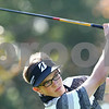 Kyle Bursaw – kbursaw@shawmedia.com<br /> <br /> Kaneland's Connor Williams watches his drive on the first hole of Sycamore Golf Course on Tuesday, Oct. 2, 2012.