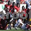Rob Winner – rwinner@shawmedia.com<br /> <br /> Northern Illinois quarterback Jordan Lynch (6) carries the ball for a first down during the third quarter at Huskie Stadium in DeKalb, Ill., Saturday, Sept. 29, 2012. Northern Illinois defeated Central Michigan, 55-24.