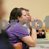 Rob Winner – rwinner@shawmedia.com<br /> <br /> Thelma Holderness listens as Laura Devine (not pictured) speaks at a gathering to remember Toni Keller at the DeKalb Elk's Lodge on Wednesday evening. It has been nearly two years since Keller's death.