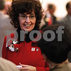 Kyle Bursaw – kbursaw@shawmedia.com<br /> <br /> Barbara Cole Peters, wife of Northern Illinois University President John Peters, talks with attendees of the 2012 State of NIU address on Thursday, Oct. 11, 2012.