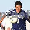 Kyle Bursaw – kbursaw@shawmedia.com<br /> <br /> Hiawatha's Luis Martinez chases after the ball during the first half of the Class 1A Genoa-Kingston Regional Semifinal against Chicagoland Jewish High School's at Genoa-Kingston High School on Wednesday, Oct. 10, 2012.