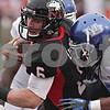 Rob Winner – rwinner@shawmedia.com<br /> <br /> Northern Illinois quarterback Jordan Lynch (6) carries the ball for a 4-yard touchdown run during the second quarter in DeKalb, Ill., Saturday, Oct. 13, 2012. NIU defeated Buffalo, 45-3.