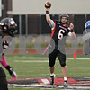 Rob Winner – rwinner@shawmedia.com<br /> <br /> Northern Illinois quarterback Jordan Lynch (6) throws a 43-yard touchdown pass to Martel Moore (left) during the third quarter in DeKalb, Ill., Saturday, Oct. 13, 2012. NIU defeated Buffalo, 45-3.