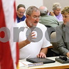 Kyle Bursaw – kbursaw@shawmedia.com <br /> <br /> DeKalb County Board members Russell Deverell and Sally DeFauw chat before the board meeting on Wednesday, Oct. 17, 2012. All the seats in the board are up for reelection.