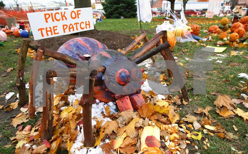 "Kyle Bursaw – kbursaw@shawmedia.com<br /> <br /> Daniel Bautista's spider pumpkin won the 2012 Pumpkin Fest ""Pick of the Patch"" award.<br /> <br /> Thursday, Oct. 25, 2012."