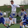 Rob Winner – rwinner@shawmedia.com<br /> <br /> Hinckley-Big Rock's Christian Johnsen (3) controls a ball in the first half during the Class 1A State semifinal in Normal, Ill., Friday, Oct. 26, 2012. Alton Marquette defeated H-BR, 4-3.