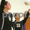 Kyle Bursaw – kbursaw@shawmedia.com<br /> <br /> Sycamore's Mattie Hayes serves the ball in the game against Hampshire in the Class 3A Hampshire regional quarterfinal at Hampshire High School on Monday, Oct. 22, 2012. Sycamore defeated Hampshire 25-16, 25-11.