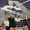 Rob Winner – rwinner@shawmedia.com<br /> <br /> Kaneland libero Shayna Tucek (2) bumps a ball back to her teammates during the second game of the Class 3A Hampshire Regional final on Thursday, Oct. 25, 2012. Kaneland defeated Sycamore, 25-19 and 25-23.