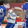 Rob Winner – rwinner@shawmedia.com<br /> <br /> Hinckley-Big Rock's Billy Weissinger (14) controls a ball in the first half during the Class 1A State semifinal in Normal, Ill., Friday, Oct. 26, 2012. Alton Marquette defeated H-BR, 4-3.