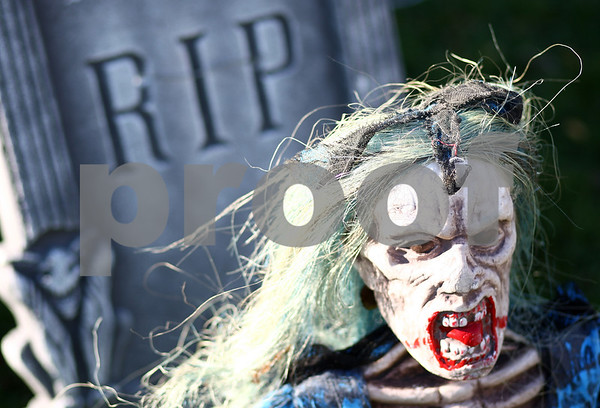 Kyle Bursaw – kbursaw@shawmedia.com<br /> <br /> A few of the many Halloween decoration's at Kevin Haish's Sycamore home. <br /> <br /> Photographed on Monday, Oct. 29, 2012.