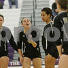 Rob Winner – rwinner@shawmedia.com<br /> <br /> Sycamore's Ratasha Garbes (4) talks with her teammates after a Kaneland point during the first game of the Class 3A Hampshire Regional final on Thursday, Oct. 25, 2012. Kaneland defeated Sycamore, 25-19 and 25-23.