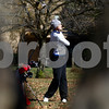 Kyle Bursaw – kbursaw@shawmedia.com<br /> <br /> Genoa-Kingston's Andrea Strohmaier takes a shot on the second hole of the Oak Club in Genoa, Ill. on Monday, Oct. 8, 2012.