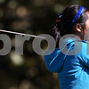 Kyle Bursaw – kbursaw@shawmedia.com<br /> <br /> Genoa-Kingston's Katie Thurlby tees off on the second hole of The Oak Club in Genoa, Ill. on Monday, Oct. 8, 2012.