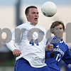 Rob Winner – rwinner@shawmedia.com<br /> <br /> Hinckley-Big Rock's Zach Michels (44) and Alton Marquette's Jacob File (17) struggle for possession in the first half during the Class 1A State semifinal in Normal, Ill., Friday, Oct. 26, 2012. Alton Marquette defeated H-BR, 4-3.