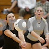 Rob Winner – rwinner@shawmedia.com<br /> <br /> Kaneland libero Shayna Tucek controls a ball during the first game at Hinckley-Big Rock Tuesday night. Kaneland defeated H-BR, 25-13 and 25-11.