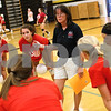 Kyle Bursaw – kbursaw@shawmedia.com<br /> <br /> Sycamore volleyball coach Debbie Klock talks to her players at practice on Tuesday, Sept. 4, 2012.