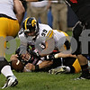 Rob Winner – rwinner@shawmedia.com<br /> <br /> Northern Illinois quarterback Jordan Lynch (6) recovers a botched snap for a loss of 2-yards late in the fourth quarter  at Soldier Field in Chicago, Ill., Saturday, Sept. 1, 2012. Iowa defeated NIU, 18-17.