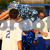Kyle Bursaw – kbursaw@shawmedia.com<br /> <br /> Hinckley-Big Rock's Jared Madden (1) runs to meet teammate Diego Maldonado (2) while Madden is introduced for HBR's 1000th soccer game on Wednesday, Sept. 12, 2012.
