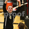 Kyle Bursaw – kbursaw@shawmedia.com<br /> <br /> Sycamore's Ratasha Garbes sets the ball in the third game against DeKalb. Sycamore lost to DeKalb 20-25, 29-27, 25-20 at Sycamore High School on Tuesday, Sept. 11, 2012.