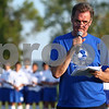 Kyle Bursaw – kbursaw@shawmedia.com<br /> <br /> Hinckley-Big Rock athletic director Bill Sambrookes individually introduces past  and current HBR soccer players and coaches in attendance during a ceremony before the team's 1000th soccer game against Hiawatha in Hinckley, Ill. on Wednesday, Sept. 12, 2012.