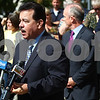 Kyle Bursaw – kbursaw@shawmedia.com<br /> <br /> Hiram Grau, director of the Illinois State Police, addresses the media outside the DeKalb County Courthouse following the guilty verdict of Jack McCullough for the 1957 disappearance and murder of Maria Ridulph, in Sycamore, Ill. on Friday, Sept. 14, 2012.